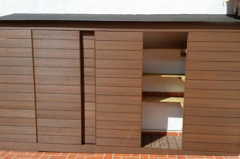Armarios casetas madera sintetica barcelona 25 for Armario jardin madera