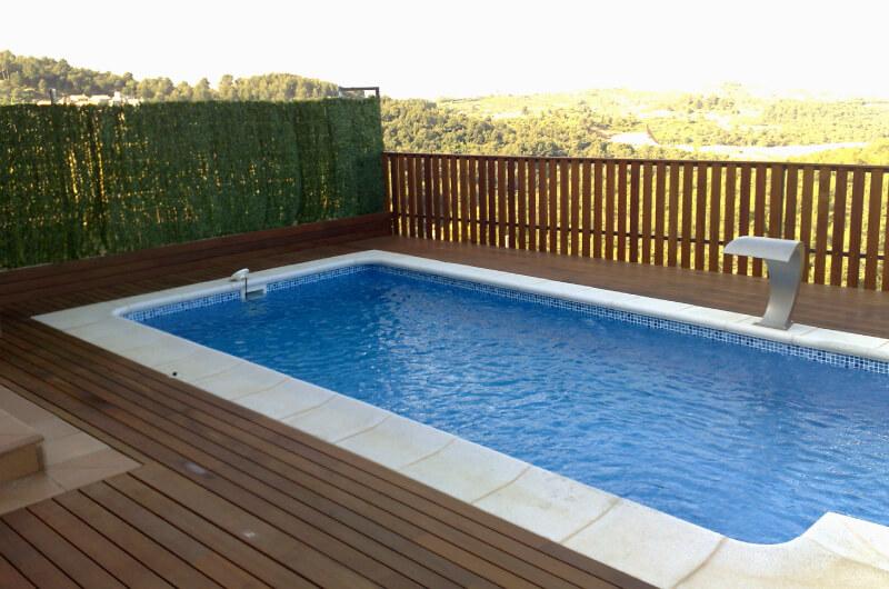 Piscina madera ipe aceitada barcelona 85 deckingpark online for Piscinas gratis barcelona