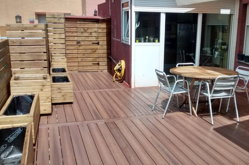 Terraza Patio Madera Sintetica Barcelona 37 Deckingpark Online