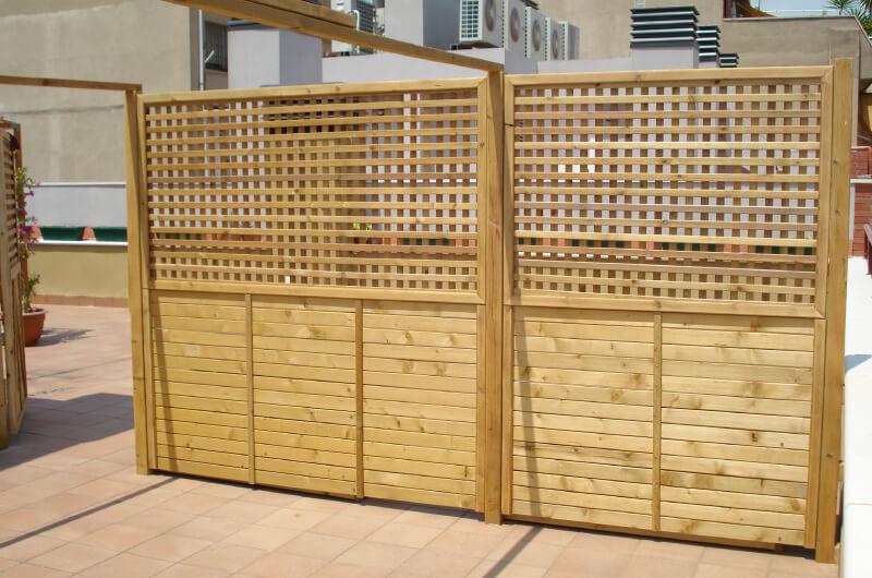 Celosias madera pino barcelona 11 deckingpark online for Celosias en madera